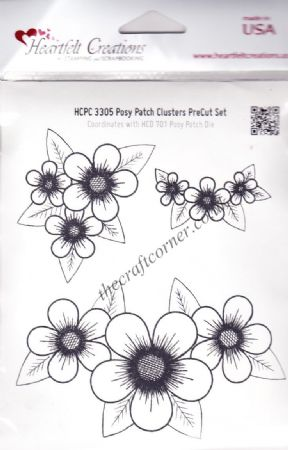 Posy Patch 3 Unmounted Rubber Stamps By Heartfelt Creations